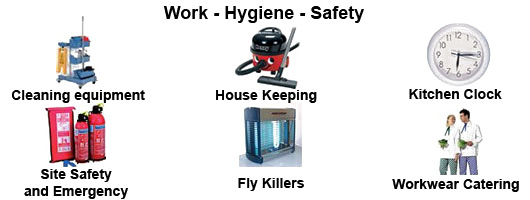 Work, hygiene and safety equipment by Millers Catering