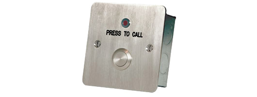 Stainless Steel Call Button from Hoyles Electronic Developments Ltd