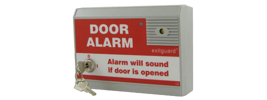 Red Label Exitguard Door Alarm from Hoyles Electronic Developments Ltd