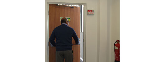 Exitguard Door Alarm in use from Hoyles Electronic Developments Ltd