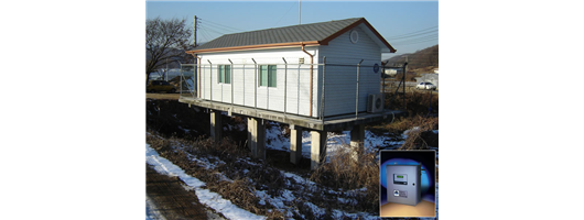 Protoc TOC installation at river monitoring station in South Korea