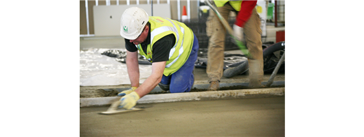Fast drying screed at Heathrow Airport