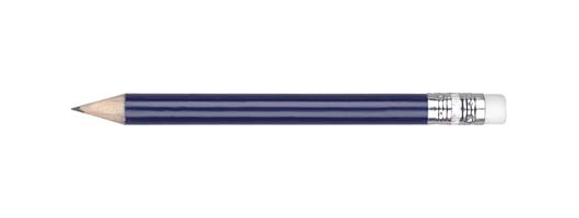 Small Wooden Pencil with Eraser in Blue