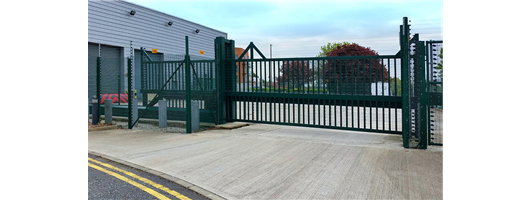 PAS 68 Terra Sliding Cantilevered Gate from Frontier Pitts