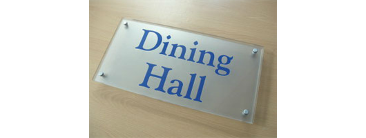 Glass Effect Signs