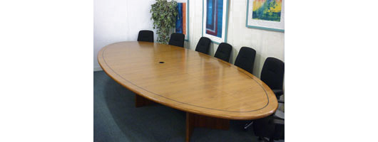 Oval Walnut Boardroom Table