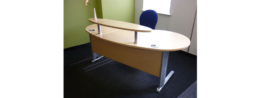 Birch Reception Desk