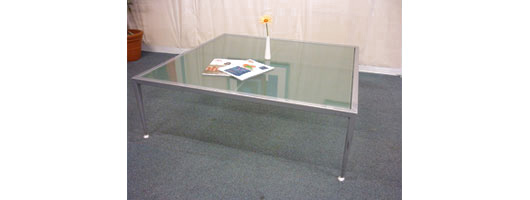 Glass Top Reception Table