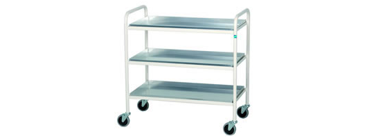Three Tier Aluminium Shelf Trolley