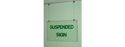 Suspended signs