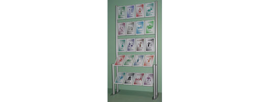 Free standing displays and literature dispensers