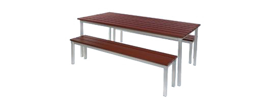 Enviro Outdoor Table And Bench Set