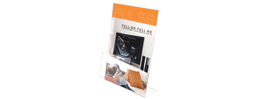 TiltTalker Poster Display with Business Card Holder
