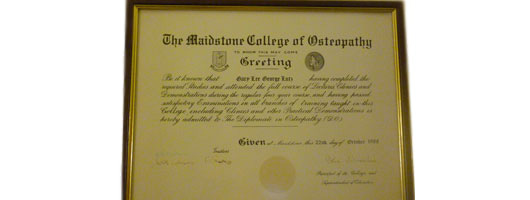 Gary Lutz – College of Osteopathy