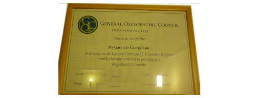 Gary Lutz – Osteopathic Council register
