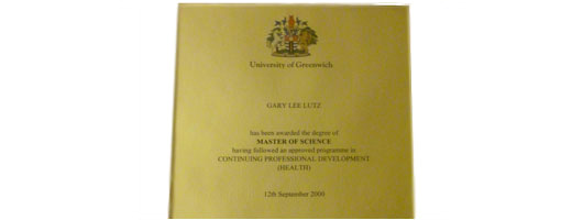 Gary Lutz – Master of Science