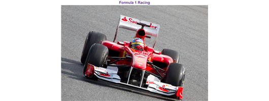 Past Projects - Formula 1 Racing