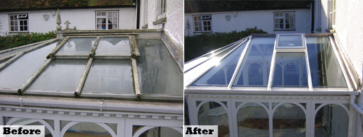 Before & After Conservatory pictures