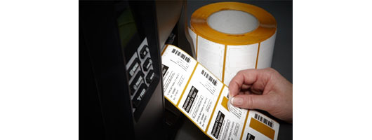 Self-adhesive Mattrans Extreme labels printed on a thermal transfer barcode printer