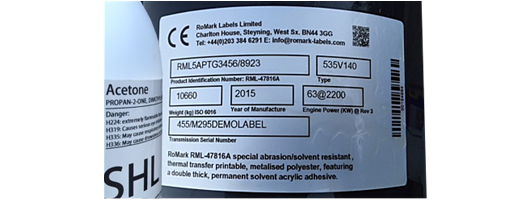 Solvent & Chemical Resistant Printable Labels