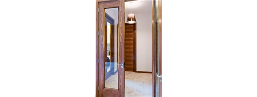 Tall Walnut Double Doors with clear glazing