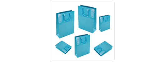 Sky Blue Glodd Paper Carrier Bags