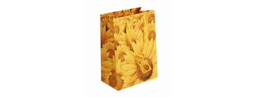 Medium Sunflower Paper Bags with Gift Tag