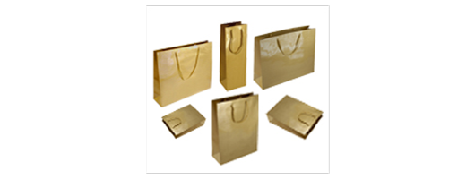 Gold Gloss Paper Carrier Bags