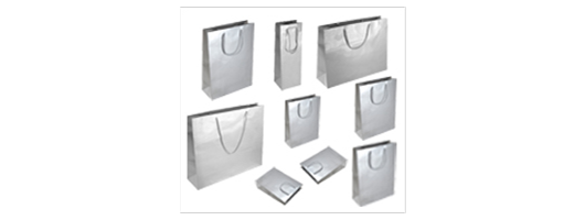 Silver Gloss Paper Carrier Bags