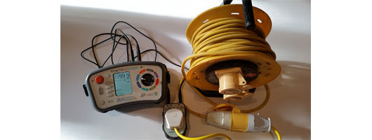 Building contractors 110v extension reel insulation resistance testing, MRB Electrical & PAT Testing