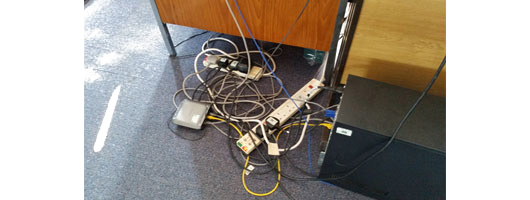 Untidy cabling causes delays for PAT Testing and is a Health & Safety issue, MRB Electrical & PAT Testing