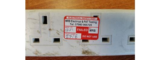 Extension leads often fail PAT Testing on visual inspection due to rattling internal parts, MRB Electrical & PAT Testing