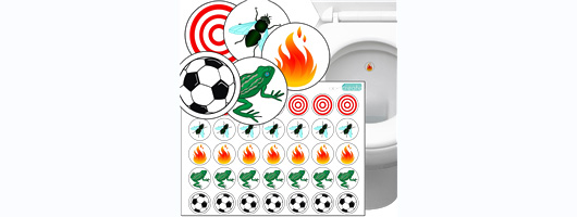Toilet Thingies Variety Pack of 35 Toilet Training Stickers