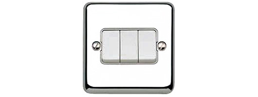 Chrome switch plate