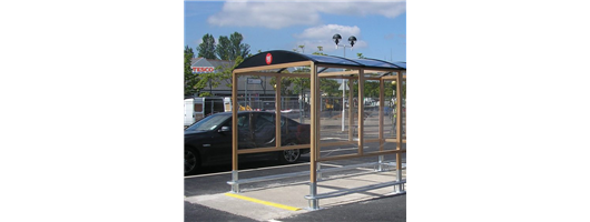 Hardwood Trolley Shelter