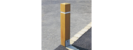 Removable Hardwood Timber Bollards