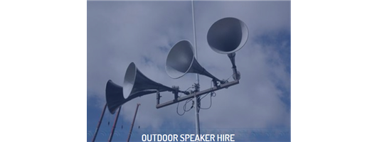 Outdoor Speaker Hire