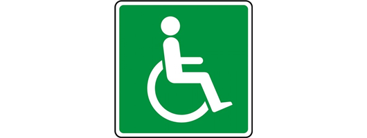 Green Wheelchair Symbol Sign
