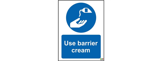 Use Barrier Cream Sign