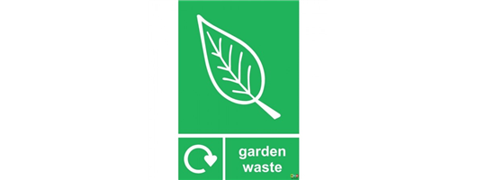 Garden Waste Recycling Sign