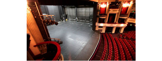 Harlequin Standfast for the new stage at Birmingham Hippodrome