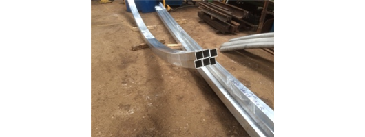 50mm Aluminium Box Section Rolled