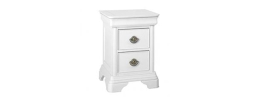 Chateaux 2 drawer nightstand white