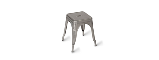 Paris Low Stool Gunmetal