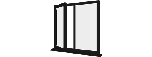 Black UPVC Windows