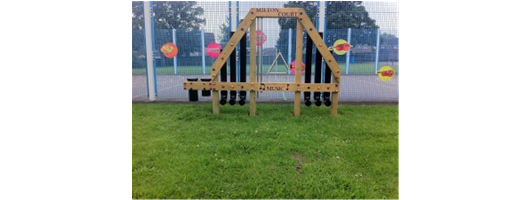 Music station triangle drum in one peice of play equipment