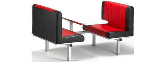 Canteen furniture, canteen seating, Merlin Industrial Products Ltd