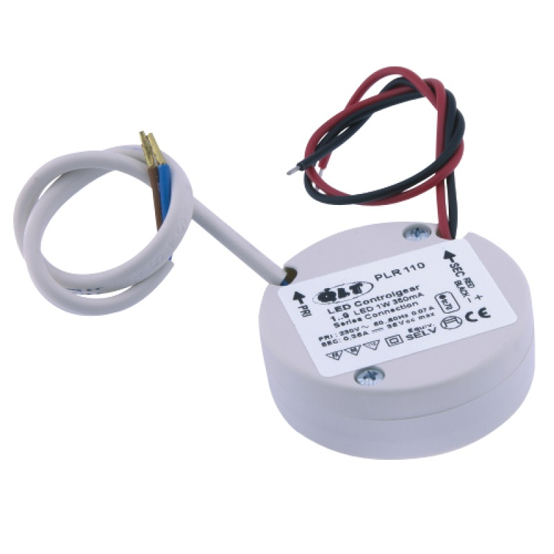 IP65 Constant Current 350mA 16 Watt LED Driver