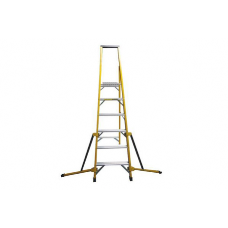 10 TREAD STABILISED FIBREGLASS PLATFORM STEPLADDER HPF10