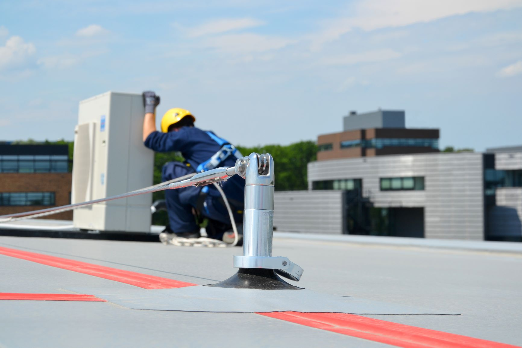 Flat Roof Membrane Anchor Systems